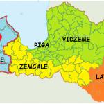Letland opdelt